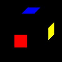 Центры кубика - всего их 6