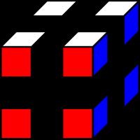 Углы кубика всего 8 штук